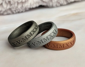 QVOW Infinity Rings Silicone Wedding Rings for Women//Men Unisex Fashion Womens Silicone Rings Replacement Mens Rubber Wedding Bands Black White Red Light Sky Blue Pink Sand Size 4 5 6 7 8