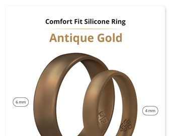 Gold Silicone Ring Etsy