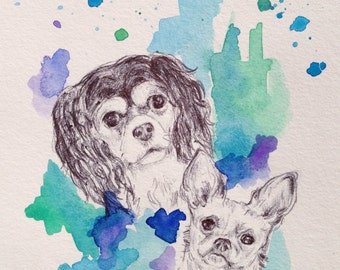 Custom Pet Portrait - Photos to paintings, Personalized dog art, chihuahua art, cocker spaniel art, Mother's Day Present, Gift Guide, Spring