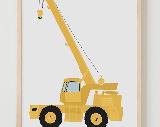 Fine Art Print. Construction Crane, August 20, 2013.