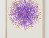 Fine Art Print.  Purple Puff Flower.  July 5, 2011.