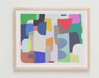 Fine Art Print.  Abstract with Shapes, April 13, 2018