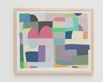 Abstract with Shapes Art Print. Available Framed or Unframed. 180504.
