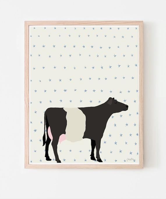 Cow Art Print. Multiple Sizes. Framed or Unframed. 120913.