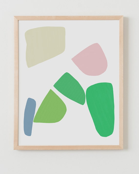 Fine Art Print. Abstract with Shapes. Available Framed or Unframed.