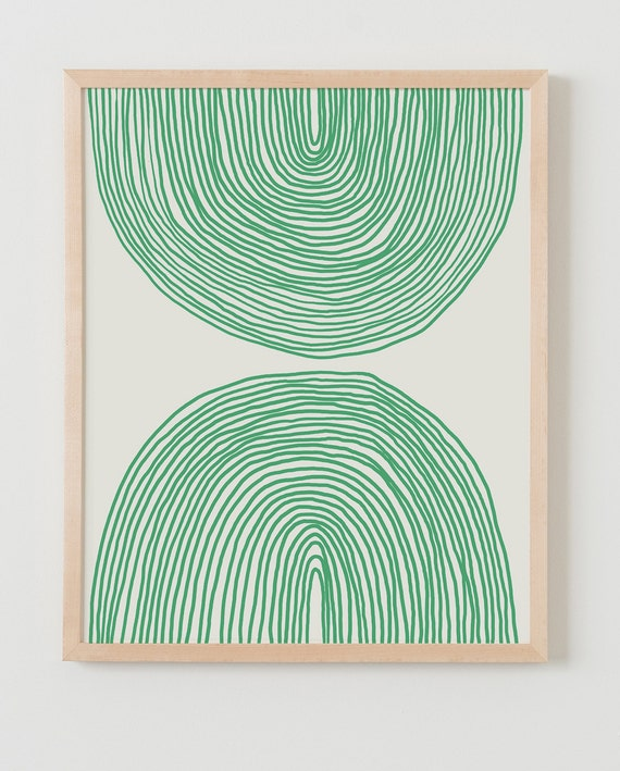 Fine Art Print.  Abstract Green Lines, February 14, 2016.