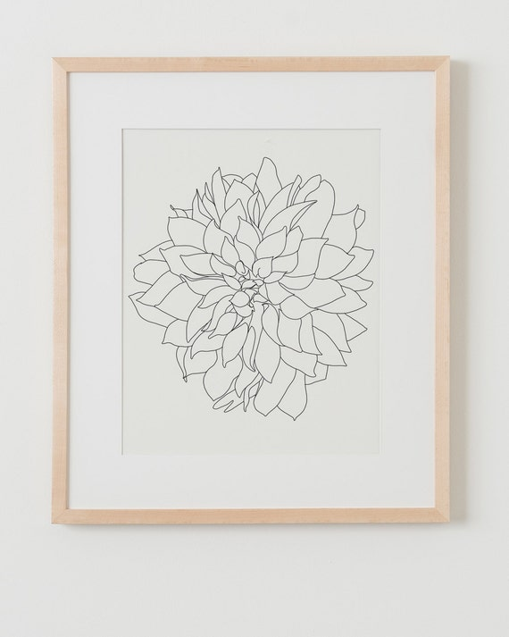 Fine Art Print.  Dahlia Flower.  September 9, 2015.