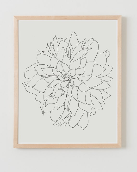 Fine Art Print. Dahlia Flower. Available Framed or Unframed.