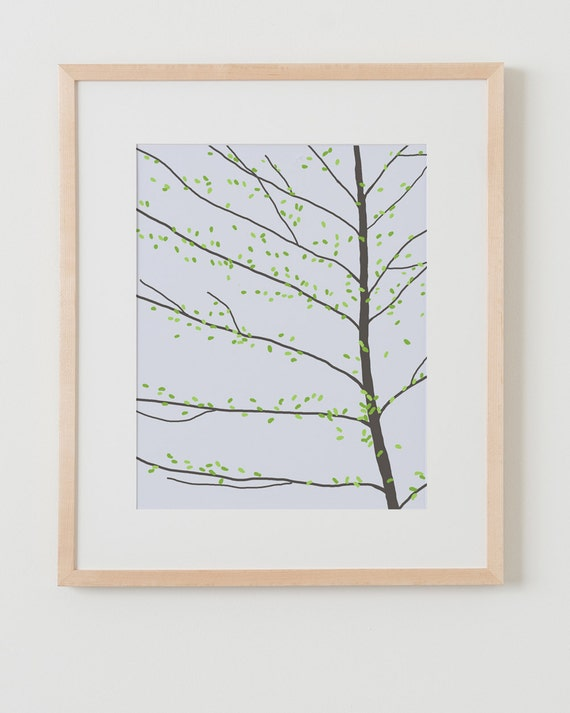 Fine Art Print.  Alder Tree.  March 1, 2012.