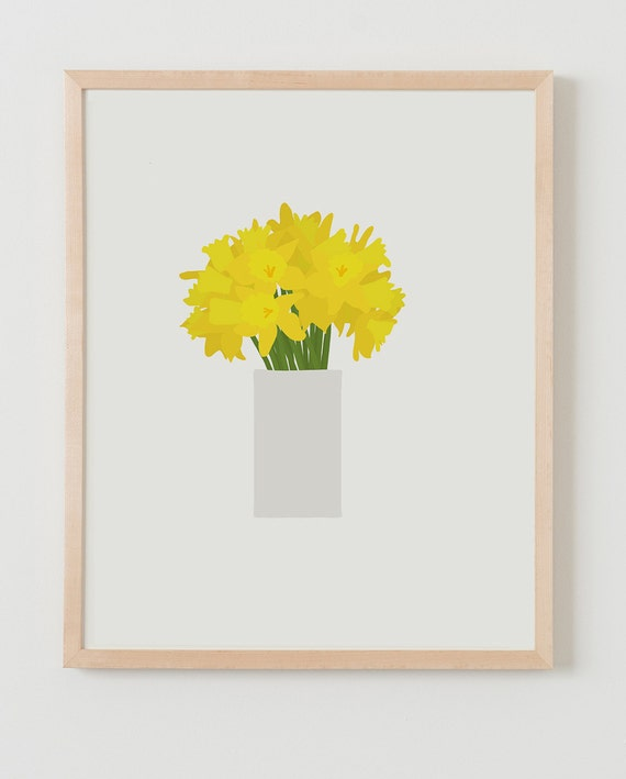 Fine Art Print.  Bouquet of Daffodils. March 14, 2016.