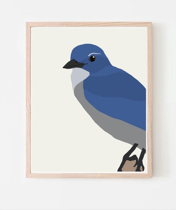 Blue Jay Art Print. Available Framed or Unframed. 140910.