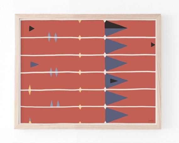 Abstract Art Print. Framed or Unframed. Multiple Sizes. 210302.
