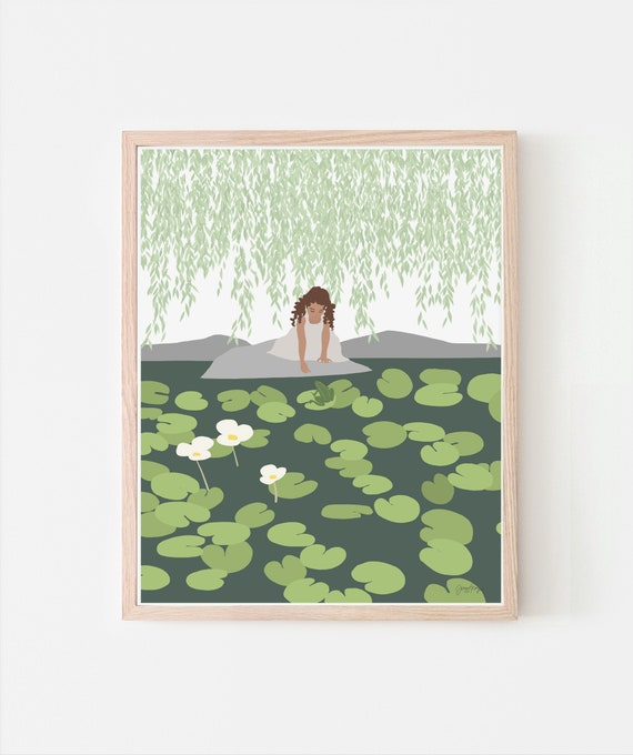 Frog Prince Art Print. Signed. Framed or Unframed. Multiple Sizes Available. 200713.