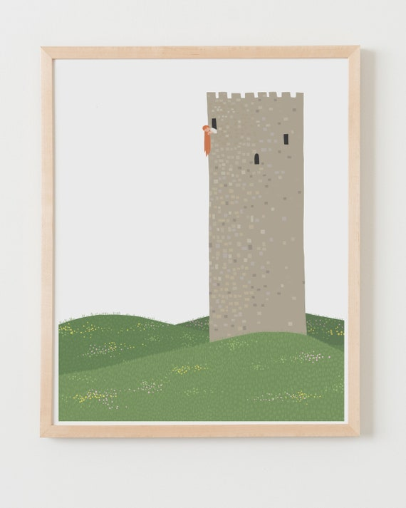 Fine Art Print. Rapunzel. Available Framed or Unframed.