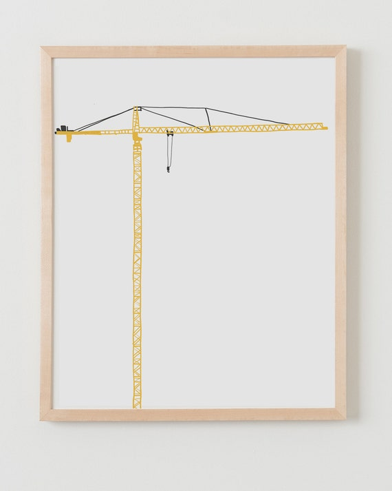 Fine Art Print.  Tower Crane.  November 25, 2013.