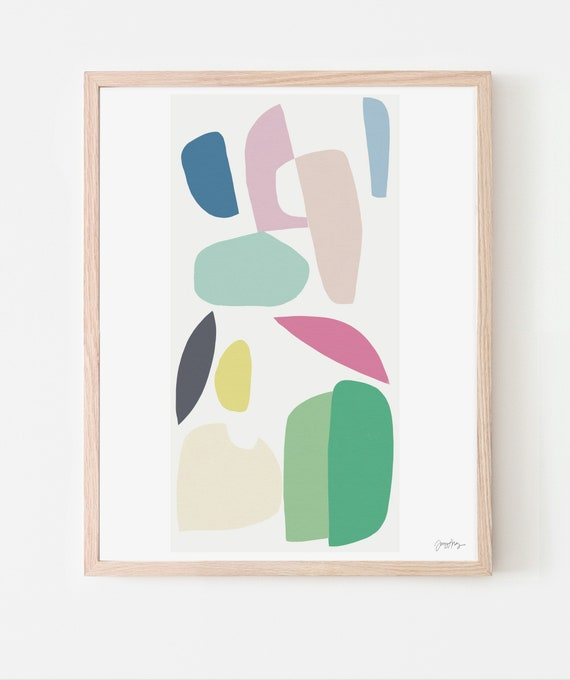 Abstract Art Print.  Available Framed or Unframed. Multiple Sizes. 180626.