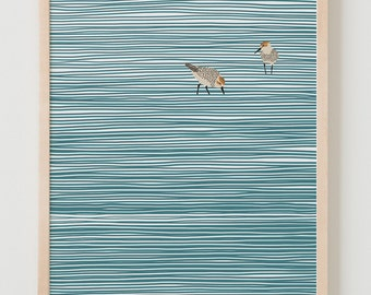 Fine Art Print.  Sandpipers at the Beach.  November 5, 2014.