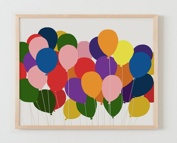 Fine Art Print.  Balloons.  March 4, 2014.