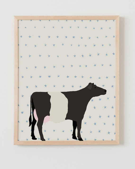 Fine Art Print. Cow. Available Framed or Unframed.