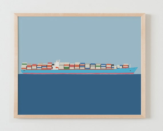 Fine Art Print. Container Ship. January 11, 2016.