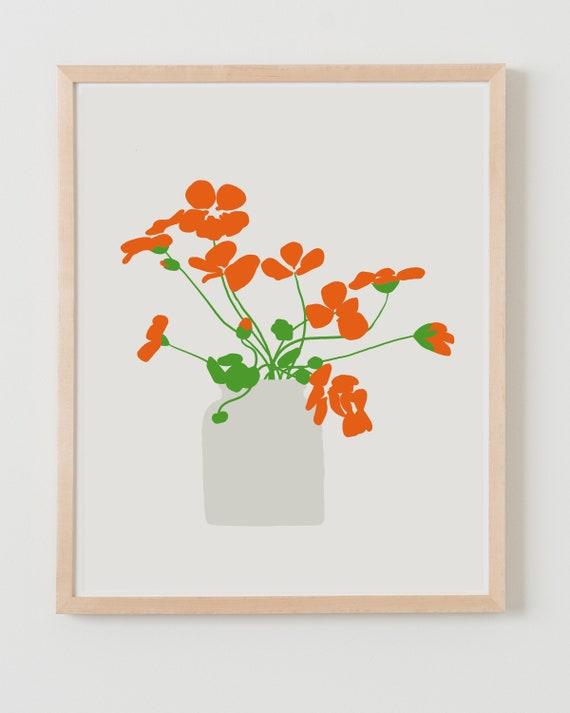 Fine Art Print. Nasturtiums. September 26, 2012.