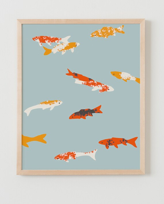 Fine Art Print.  Koi, January 11, 2012.