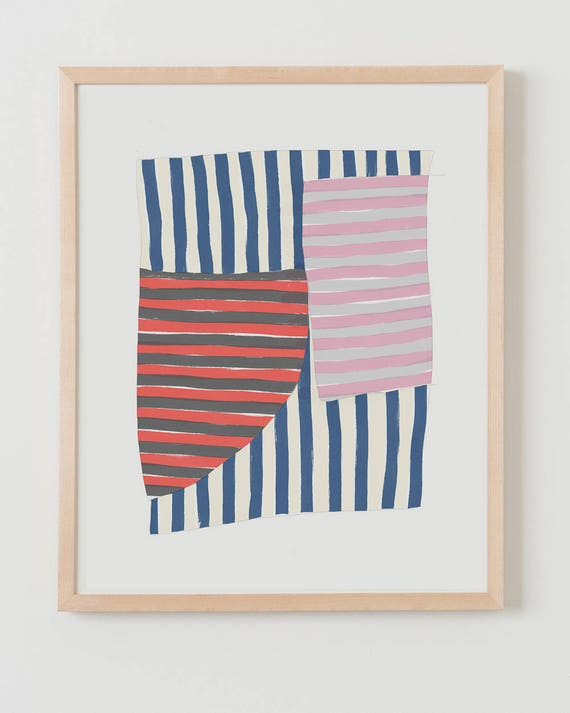 Fine Art Print.  Stripe Study Navy, September 27, 2017.