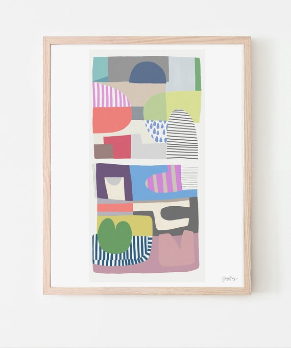 Abstract Art Print. Available Framed or Unframed. 180613.