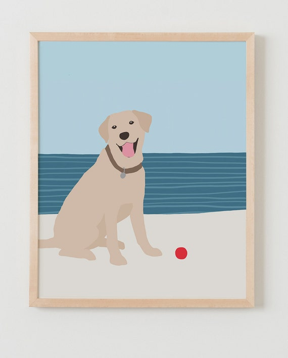 Fine Art Print.  Dog at Beach.  May 22, 2016.