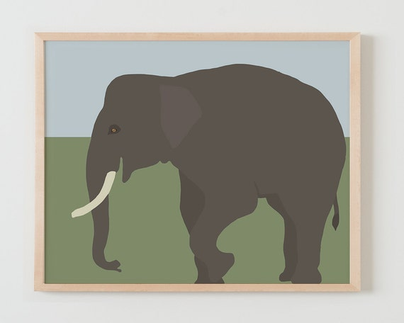 Fine Art Print.  Elephant. Available Framed or Unframed.