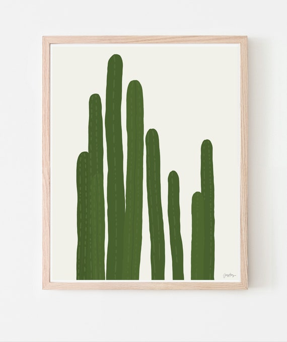 Cactus Art Print. Available Framed or Unframed. 151021.
