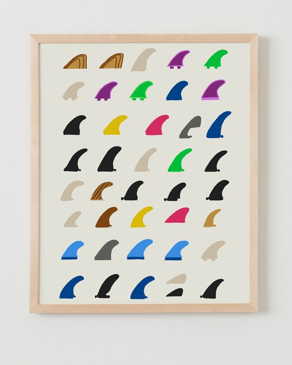 Fine Art Print.  Surfboard Fins.  March 5, 2012.