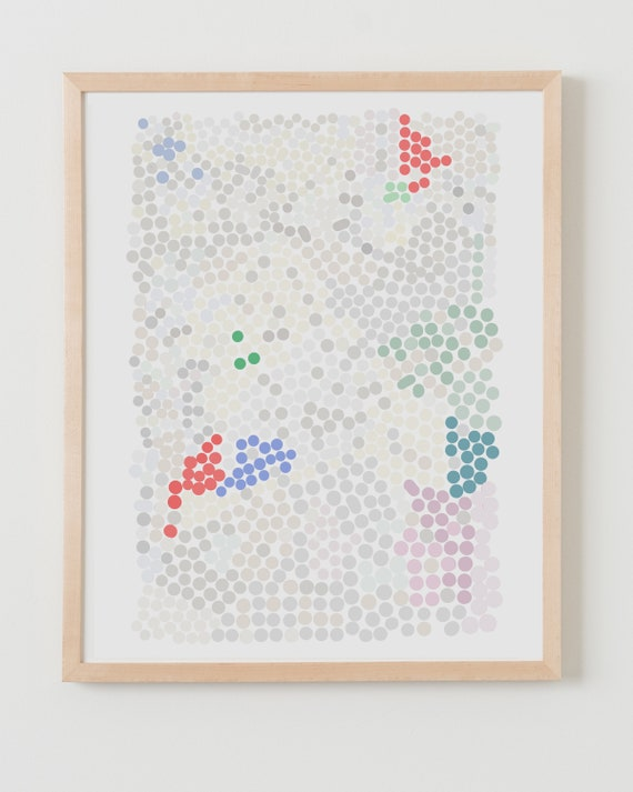 Fine Art Print. Abstract with Dots. Available Framed or Unframed.