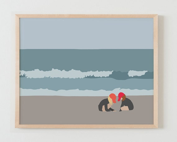 Framed Fine Art Print. Girls at the Beach. May 2, 2016.