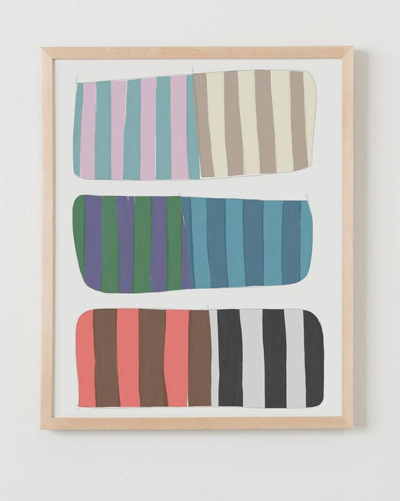 Fine Art Print.  Stripe Study Strips, October 1, 2017.