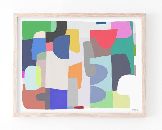 Abstract Art Print. Framed or Unframed. 180413.