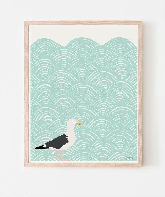 Seagull Fine Art Print. Multiple Sizes. Framed or Unframed. 120723.