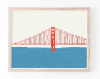 Golden Gate Bridge Fine Art Print Left. Available Framed or Unframed. 150323.