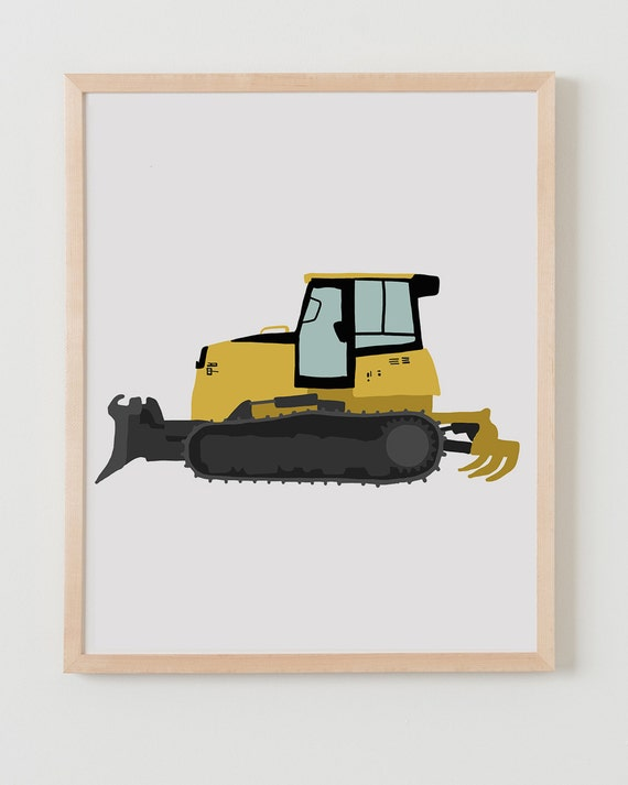 Fine Art Print.  Bulldozer.  February 25, 2014.