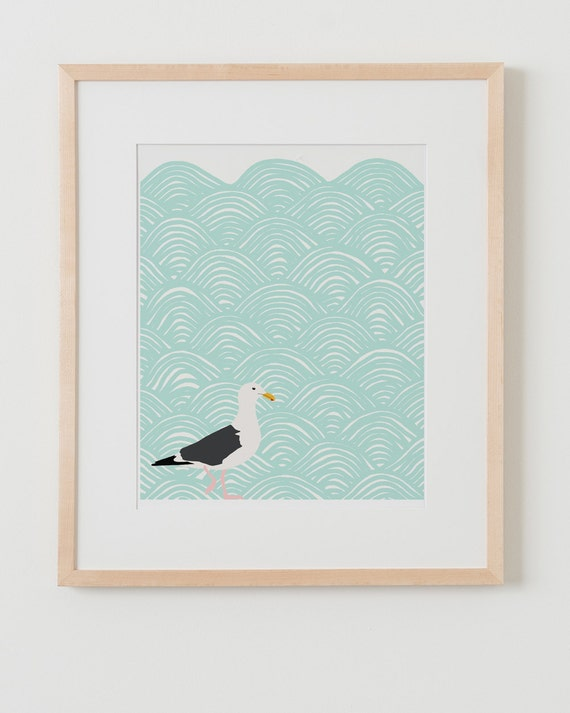 Fine Art Print.  Seagull.  July 23, 2012.