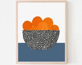 Still Life with Oranges Art Print. Signed. Framed or Unframed. 200616.