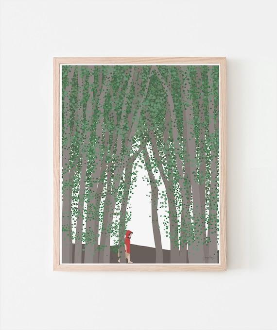 Little Red Riding Hood Fine Art Print. Signed. Framed or Unframed. Multiple Sizes Available. 200713.
