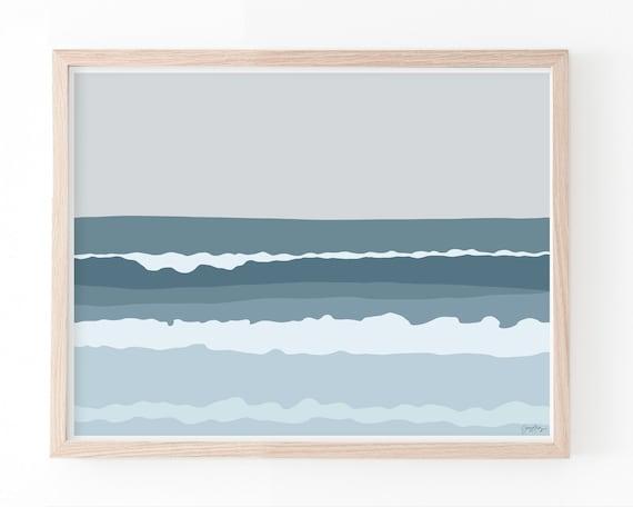 Beach Landscape Art Print. Multiple Sizes. Available Framed or Unframed. 130725.