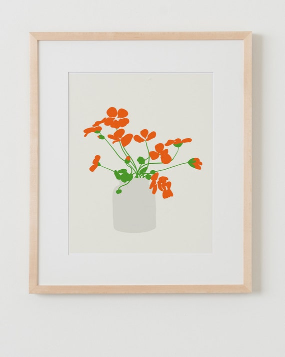Fine Art Print. Nasturtiums. September 26, 2012.