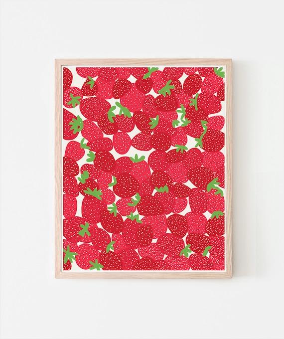 Strawberries Fine Art Print. Signed. Framed or Unframed. Multiple Sizes Available. 110728.