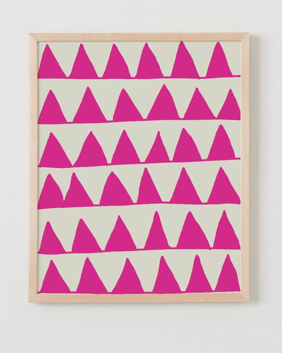 Fine Art Print.  Pink Triangles.  August 3, 2011.