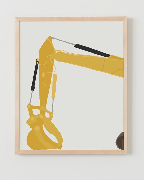 Fine Art Print.  Backhoe (front). December 13, 2014.