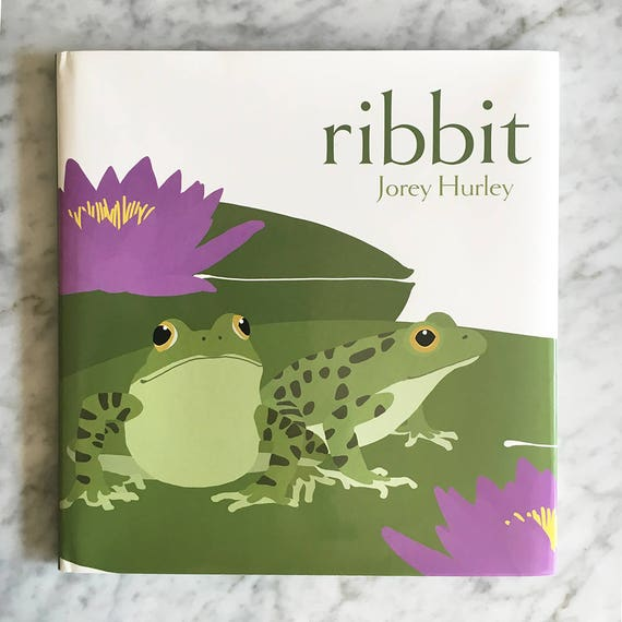 RIBBIT Hardcover Children's Picture Book, Signed by Author