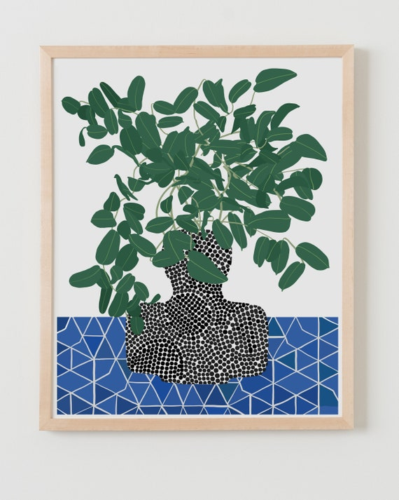 Fine Art Print. Still Life with Tropical Plant. Available Framed or Unframed.