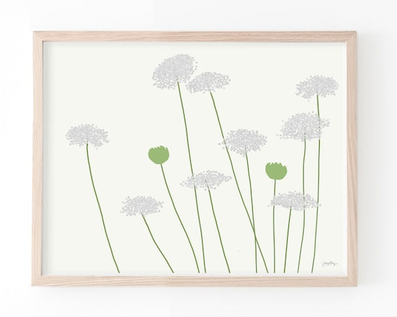 Queen Anne's Lace Art Print. Available Framed or Unframed. 150819.